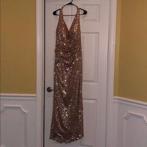 Alfredo Angelo Rose Gold Sequin Formal Dress